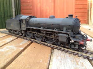 Hornby B1 given 1960s, hard working finish.