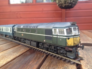 Back dated to have representation of gangway doors, modified bogie detail.